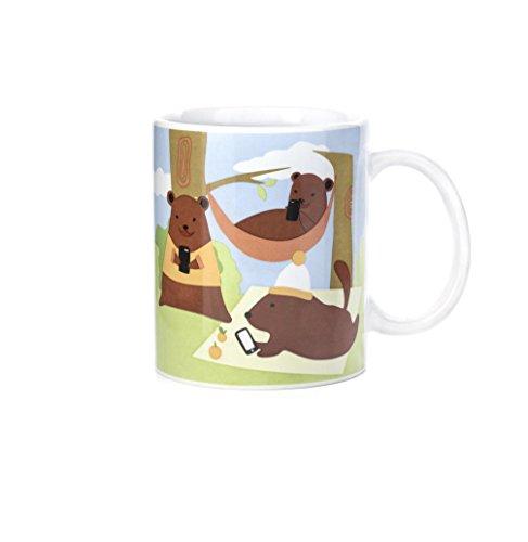 Kikkerland Tasse, Keramik, Mehrfarbig, 12.5 x 8.2 x 9.5 cm