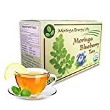 MORINGA BLUEBERRY TEA - USDA Organic - Nature´s Most Potent Botanical for Nutrients, Vitamins & Minerals Now in Blueberry! Boost your Energy and Wellness with this Delicious Moringa Tea