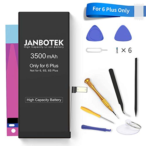 JANBOTEK 3500mAh Replacement Battery for iPhone 6 Plus, Model A1522 A1524 A1593 High Capacity Li-ion Battery with Complete Repair Tool Kits - 24 Months Warr
