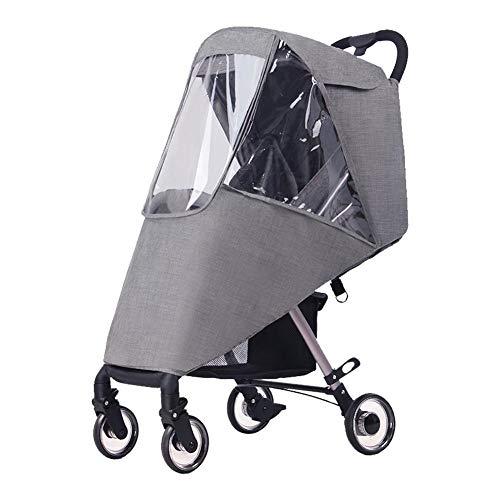 Universele kinderwagen-overkapping, anti-uv-paraplu-overkapping, geschikt voor kinderwagenstoel, afneembare luifel in zonwering, voor kinderwagen, met zeer transparante EVA-kunststof.