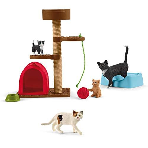 Farm World Schleich - Spielspaß für niedliche Katzen 42501 und Katze 13894