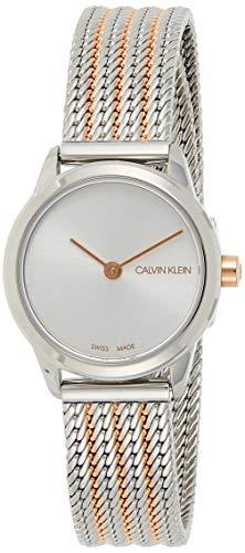 Calvin Klein Damen Analog Quarz Uhr mit Edelstahl Armband K3M22B26
