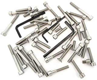 Stainless Steel Allen Bolt Set - Compatible with Honda CB350 CB350G CL350 Twin - 1968-1973 - 34 Bolts