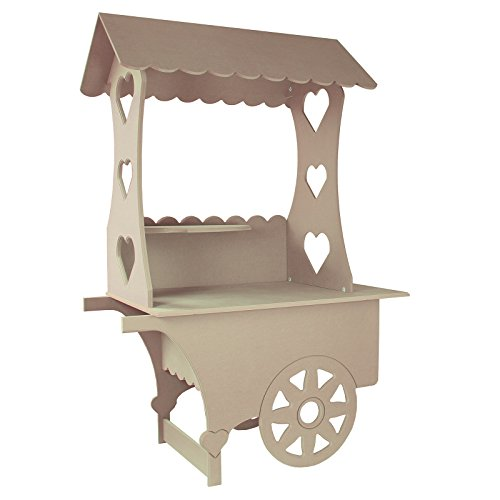 MonsterShop KuKoo Süßigkeitenstand Süßwarenstand Süßigkeitenbar Candy-Bar Süßigkeiten-Buffet Süßigkeiten-Wagen Süßwaren Catering Hochzeitsdeko Geburtstage Partybedarf 199cm H x 133cm B x 73cm T