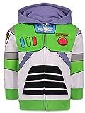 Disney Pixar Buzz Lightyear Toddler Boys Hoodie Costume Talking Fleece Zip Up Hoodie 3T