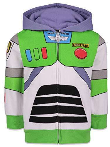 Moletom com capuz Disney Pixar Buzz Lightyear para meninos e meninas, Buzz Lightyear, 4T