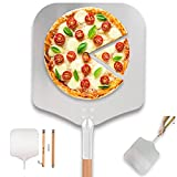 Time Forest Large Pizza Peel 16 Inch X 14 Inch, Metal Pizza Paddle with Long Handle, 35'-51' Long, Detachable and Adjustable Aluminum Pizza Spatula for Pizza Stone