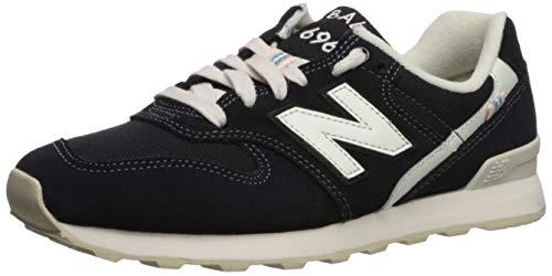 New Balance Women's 696 V1 Sneaker, Black/White, 5.5 B US