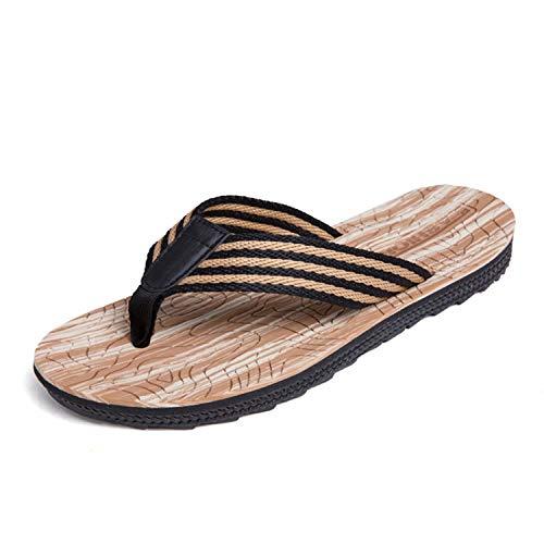 Chanclas para hombre Chanclas de verano para adultos Zapatos de playa y piscina(G/Khaki 45)
