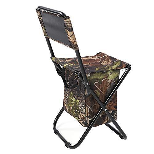 Demeras Klappbarer Campingstuhl für Sitzplätze im Freien Hochwertig für den Garten zum Grillen