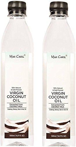 Max Care Cold Pressed Virgin Coconut Oil, 500 ml - Pack of 2