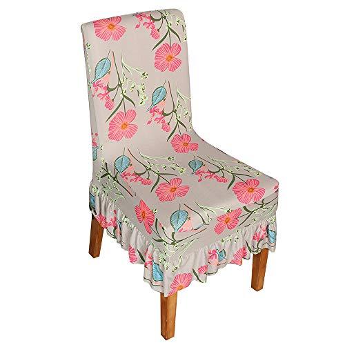 Walmeck stoelhoezen, bedrukt patroon, lange rok, eetkamerstoel, beschermhoezen, stretch, anti-stof