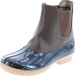 top rated Women's Boots Nature Breeze Duck 08 Two Tone Pull-on Rain Duck, Brown, 8.5 2021
