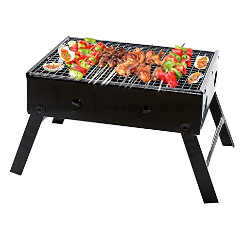 Portable Folding Grill, Black Steel Stove,There Are 12 Vents Around The Carbon Tank, So Charcoal Is Easier To Burn,Very Suitable for Family/Party of 1-3 People