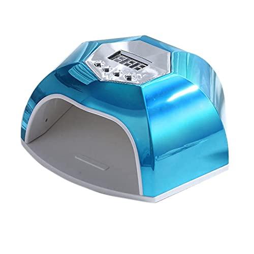 Kaxofang Secador de UUAs Sensor Inteligente para Geles Pulimentos LáMpara de UUAs de Curado Luz de UUAs con 4 Ajustes de Temporizador Enchufe de la UE Azul