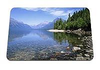22cmx18cm マウスパッド (湖の石海岸水透明な底) パターンカスタムの マウスパッド