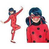 Rubies Ladybug - Disfraz para niños, Talla M (5-6 años) + Ladybug - Peluca complemento de disfraz infantil, talla única ( Spain 32929)