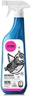 YOPE - Odorless cleanser for cleaning glasses and mirrors - ecobio - biodegradable - antistatic - 750 ml