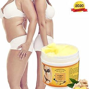 Quemador de grasa con crema adelgazante de jengibre para barriga, crema caliente para el cuerpo, crema natural para el tratamiento de la celulitis para dar forma a la cintura, las nalgas (50 ML)