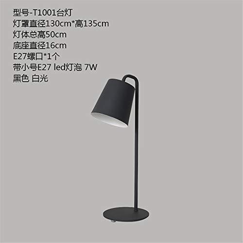 YU-K Couleur personnalisée bureau chambre lit minimaliste hôtel art déco fer personnalisé LED Lampes de table Lampes de bureau modernes,16 * 50cm, noir et blanc