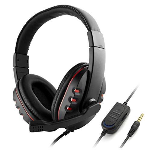 YOKING Casque De Jeu 3,5 Mm, avec Contrôle du Volume du Microphone, pour Sony / PS4 / Playstation 4, pour PC