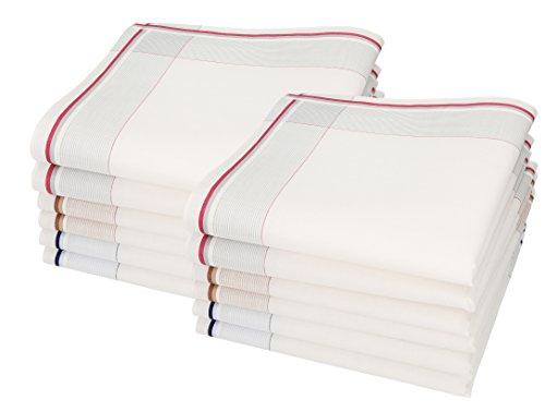 Betz 12 Stück Herren Stoff Taschentücher Set Lord 1 100% Baumwolle Größe 40 x 40 cm L Desssin 59