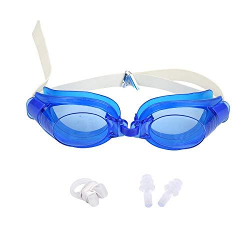 XingYue Direct 3 Stks Verstelbare Zwembril Anti-Mist Waterdicht Zwembad Zwembril Volwassen Zwembril met Neus Clip + Oorsteker