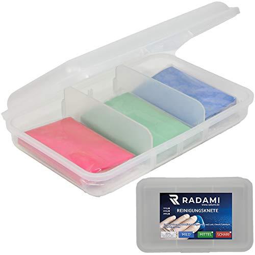 Reinigungsknete Lackreiniger Glasreiniger Polierknete Lackknete 3 er Set rot/blau/grün 300g inkl.Box