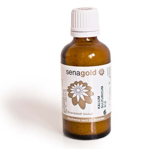 Schuessler Salz Nr.6 - Kalium sulfuricum D6 - Globuli 50 g, laktosefrei