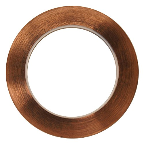 BHD 3/16 Inch 36 Yard Stained Glass Copper Foil Tape with Conductive Adhesive