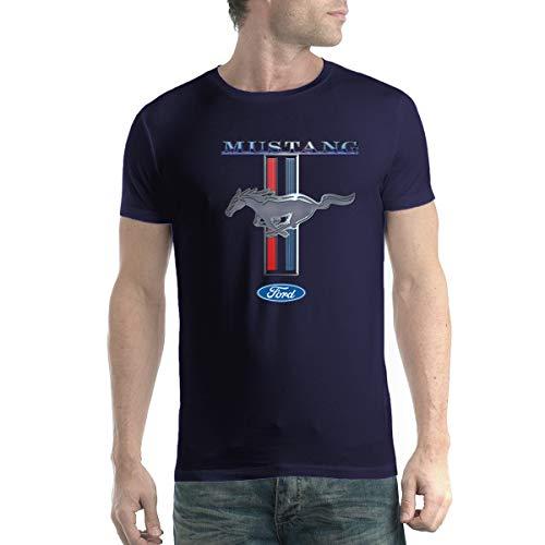 Ford Mustang Logo Herren T-Shirt Marineblau M