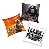 Star Wars Kissen 3er Set BB8 Darth Vader Todesstern 40x40