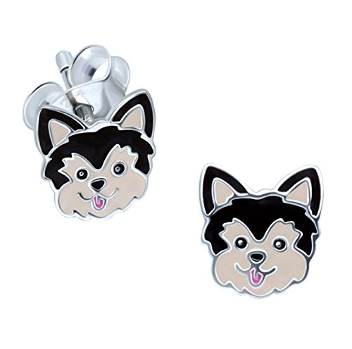 Katy Craig – Pendientes de Yorkshire Terrier para perro, plata de ley