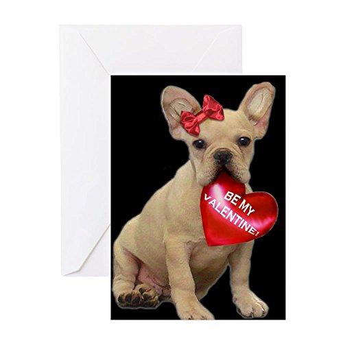 CafePress Be My Valentine French Bulldog Greeting Card, Note Card, Birthday Card, Blank Inside Matte