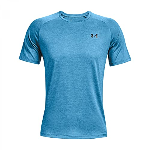 Under Armour Tech 2.0 Short Sleeve T-Shirt Camiseta, Radar Azul/Negro (422), M para Hombre