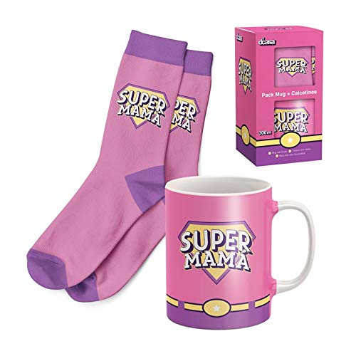 EURASIA - Pack de Regalo Dia de la Madre - Taza de Desayuno + Calcetines Originales - Ideal Para Sorprender a tus Seres Queridos (Dia de la Madre)