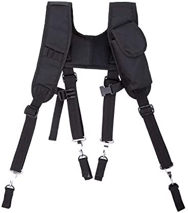 LAUTUS Padded Tool Belt Suspenders w Chest Strap Pencil Sleeve Tape Measure Cell Phone Holder product image