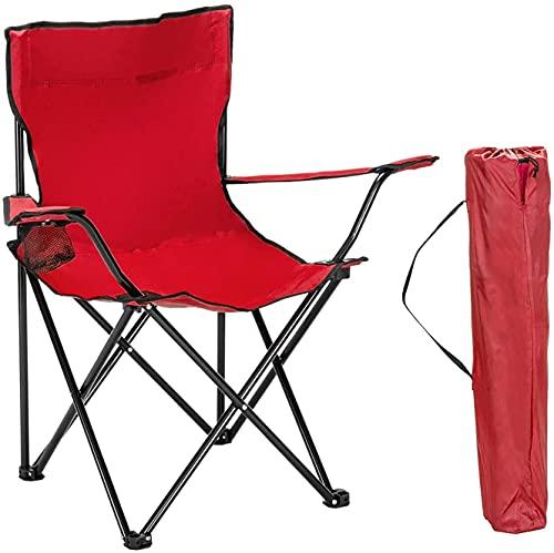 XIEZI Ultralight Camping Chair Xiezi Silla De Camping Ultraligera Sillas De Camping Plegables, Sillón con Brazo De Varilla Cuádruple Acolchado Marco De Acero Plegable Silla De Respaldo Anch