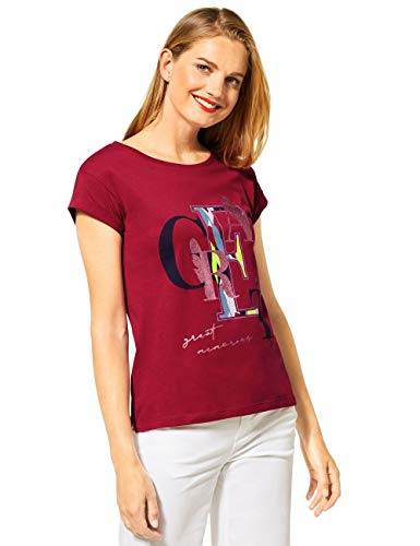 Street One Damen 315126 T-Shirt, Sweet Wine, 40