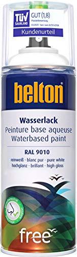 belton free Wasserlack RAL 9010 reinweiß, hochglänzend, 400 ml - Geruchsneutral