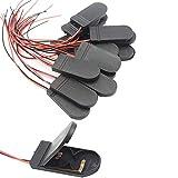 GTIWUNG 20Pcs CR2032 Soporte de Bateria, 2 x 3V CR2032 Soporte de Bateria Pilas de Boton con Interruptor de Cable, Portapilas para Pilas Botón