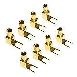 Vimmor - Adattatore da banana a forcella, 8 pezzi, hi-end, resistente alla corrosione 8 pezzi Oro