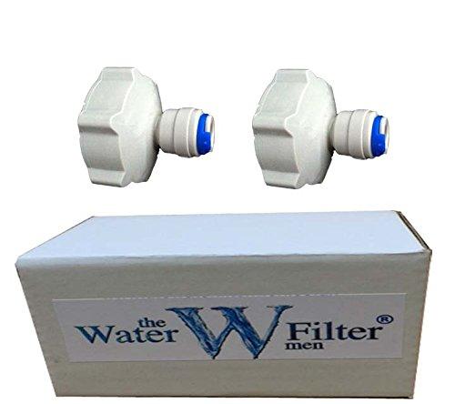 2x 1,91 cm (3/4 Zoll) bis 0,64 cm (1/4 Zoll) Steckanschluss für Gartenwasserhahn, Kühlschrank-Gefrierfach, Umkehrosmose, Wasserfilter.