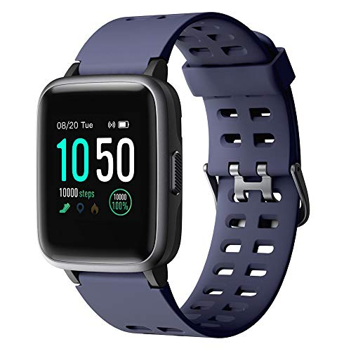 YAMAY Smartwatch,Fitness Armband Uhr Voller Touch Screen Fitness Uhr IP68 Wasserdicht Fitness Tracker Sportuhr mit Schrittzähler Pulsuhren Stoppuhr für Damen Herren Smart Watch für iOS Android Handy