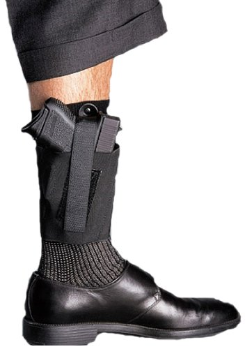 Galco Cop Ankle Band for Walther PPK, Sig P232, Kahr K9, K40, PM9, PM40, Bersa Thunder .380 (Black,...