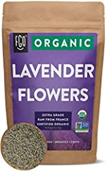 CERTIFIED ORGANIC LAVENDER FLOWERS (EXTRA GRADE) - 4oz Resealable Bag IMPORTED 100% RAW FROM FRANCE - This bag contains certified organic, 100% raw lavender flowers from the fields of southern France. HEALTHY & DELICIOUS - Relax your body and your mi...