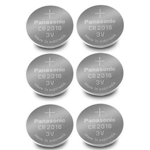 Panasonic CR2016-6 CR2016 3V Lithium Coin Battery (Pack of 6)