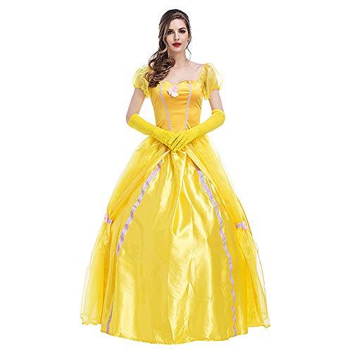 Volwassen prinses aankleden kostuums met een rok brace, Belle prinses aankleden voor meisjes geschikt voor Halloween Party Cosplay
