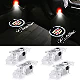 Car Door Lights Logo for Cadillac Puddle Lights Lighting Entry Ghost Shadow Projector Emblem Welcome Lamp for ATS SRX XTS Cadillac Accessories Replacement 4 Pack