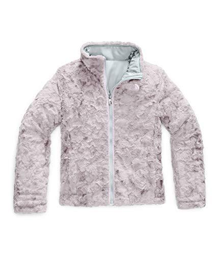 The North Face Girls' Reversible Mossbud Swirl Jacket, Medium Grey/Ashen Purple Mossbud Swirl Raschel, X-Large